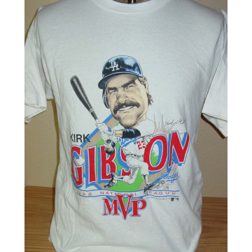 competitive price c2db7 ac5a2 Vintage 1988 Los Angeles Dodgers Kirk Gibson Cartoon Tee Shirt